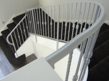Ironwork classic white metal balustrade manufactured in Christchurch by Metalcraft Engineering