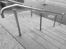 External stair handrail stainless stell and made in Christchurch by Metalcraft Engineering
