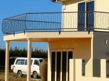 Balcony metal balustrade manufactured in Christchurch custom design install and measure up