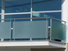 Architectural balcony balustrade glass and stainless steel Metalcraft Engineering Christchurch