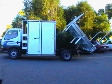 Metalcraft Engineering custom made site truck with tipper and lock up