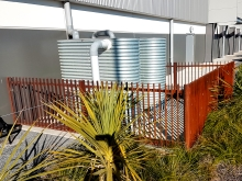 Corten steel custom made fence Metalcraft Engineering Christchurch