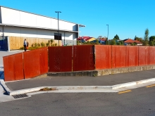 Corten steel fence weathered metal Metalcraft Engineering Christchurch