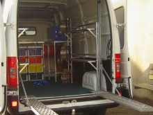 Metalcraft Engineering design and build van fit out for race go carts