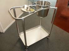 Metalcraft Engineering custom fabricated stainless steel hospital trolley medical grade equipment Christchurch