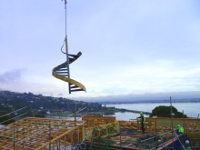 Metalcraft Engineering fabricate and install architectural metal spiral stair case Christchurch