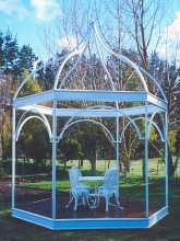 Bespoke garden gazebo feature structure Metalcraft Engineering Christchurch