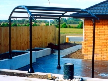 Patio metal structure Metalcraft Engineering bespoke Metal frame