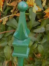 Iron work point top garden stake Christchurch garden art