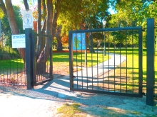 Park gate and fence Christchurch Metalcraft Engineering