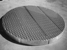 Aluminium grating custom made round shape Christchurch