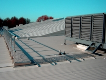 Roof safety access commercial building Christchurch Metalcraft Engineering