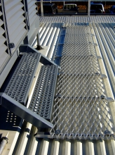 Roof access and steps commercial buildings plant platform