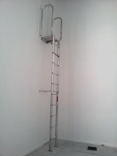 Access ladder ceiling floating ceiling commercial building