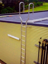 External ladder roof access aluminium walkway grating