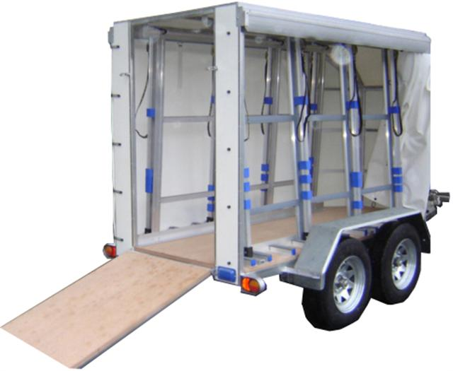 Small Covered Glass trailer